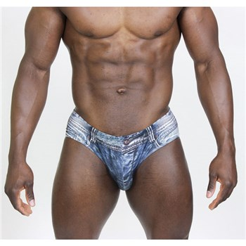 Indigo Jean Latin Brief