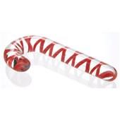 candy cane glass dildo