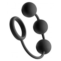Tom of Finland Silicone Penis Ring With 3 Balls