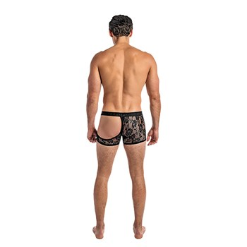 male model half moon shorts