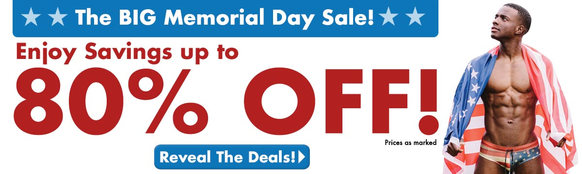 Memorial Day Sale - Savings up to 80% Off