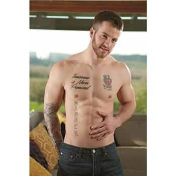 Brunette male topless