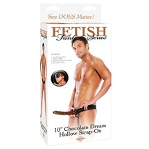"10"" Chocolate Dream Strap-On"