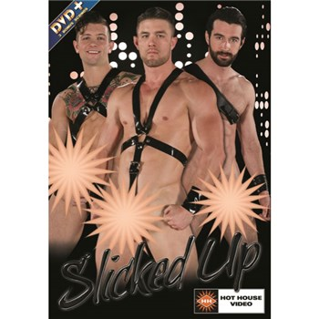 Three males in body harnesses