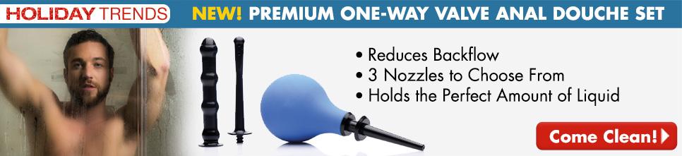 NEW! Premium One-Way Valve Anal Douche Kit