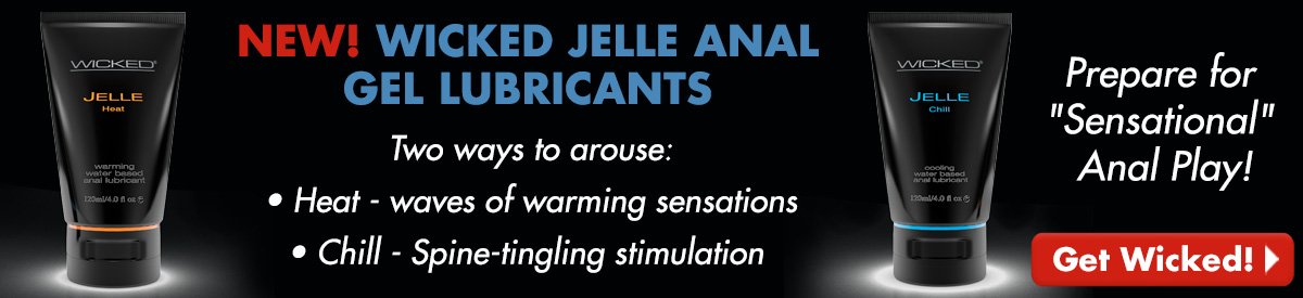 NEW! Wicked Jelle Anal Gel Lubricants