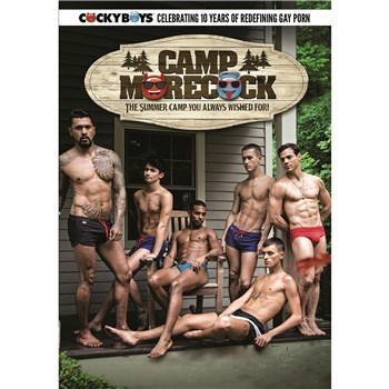 Five topless males outdoors Camp more Dick