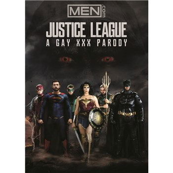 Individuals in super hero costumes Justice League