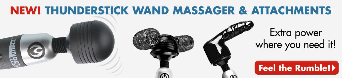 NEW!  Thunderstick Wand Massager & Attachments
