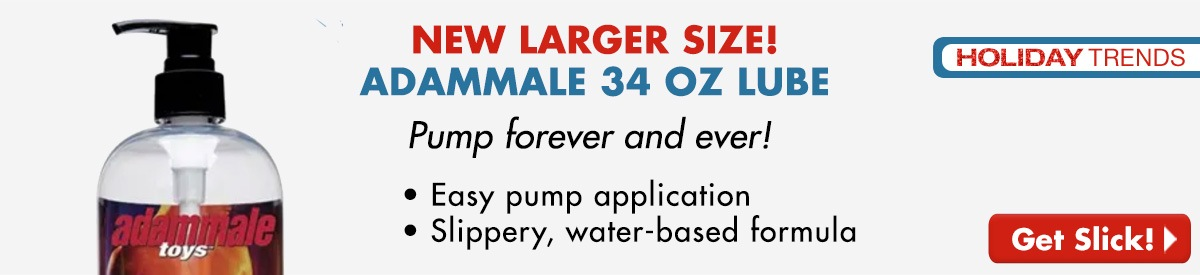 NEW Larger Size!  AdamMale 34 oz Lube