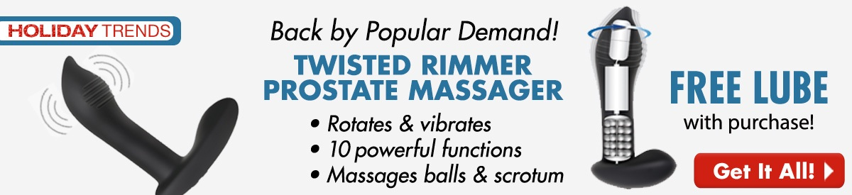 Twisted Rimmer Prostate Massager + FREE Lube