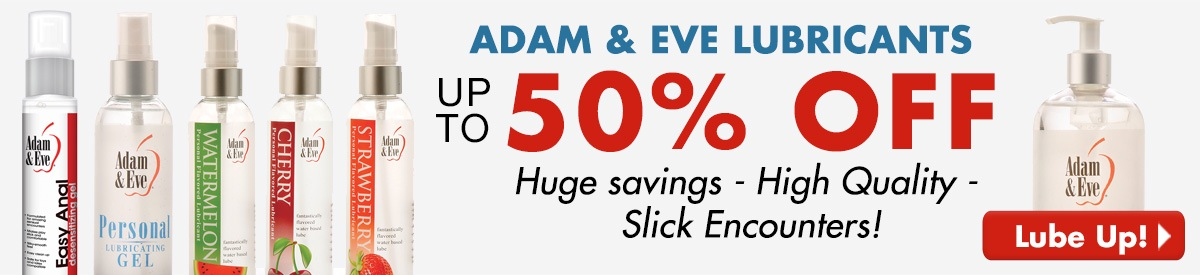 Up to 50% off  Adam & Eve Lubricants