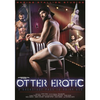 Male seated in chair wearing athletic supporter revealing buttocks male go go dancers otter erotic