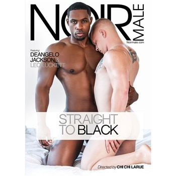 Two nude males holding each other straight to black