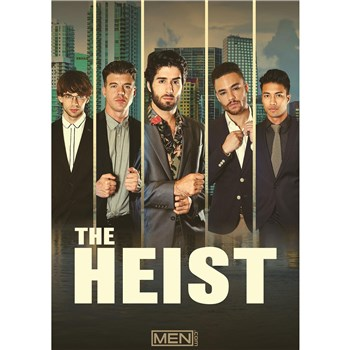 Five males modeling suits the heist