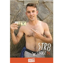 Topless male holding money STR8 Chaser