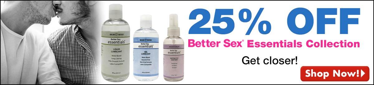 BESTSELLER! 25% Off BetterSex Essentials Collection