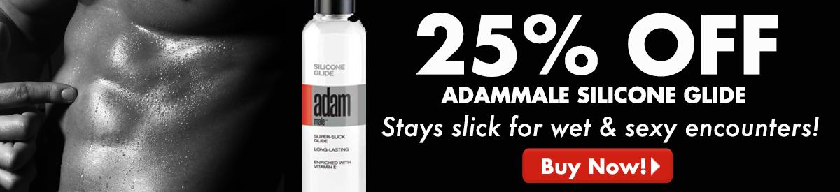 25% Off AdamMale Silicone Glide